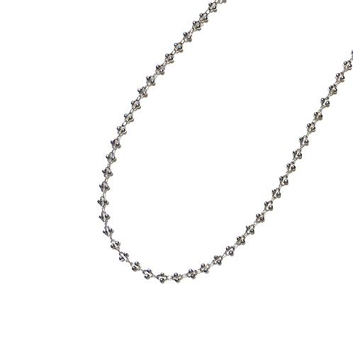 Choker trevinhos (ródio branco)