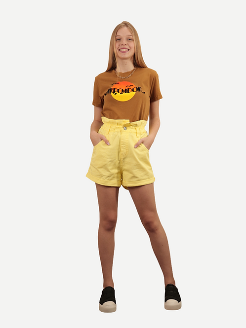 Shorts Gaia (amarelo)