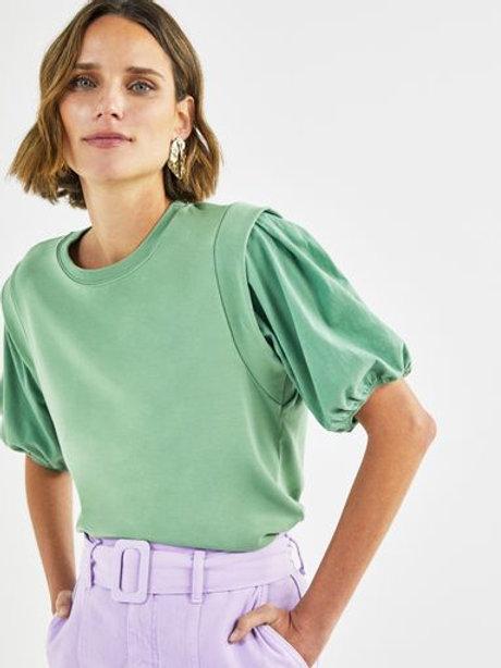 T-shirt manga bufante (verde)