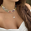 Thumbnail: Choker trevinhos (ródio branco)