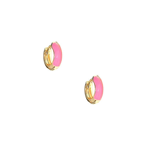 Argola Pri (rosa chiclé)
