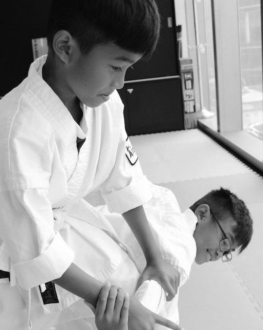 Aikido-Students doing ikkyo