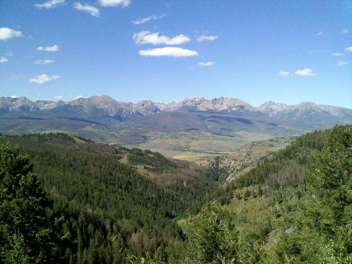 View from top of Ute Pass