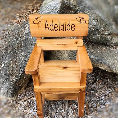 Custom Wood Baby Chair