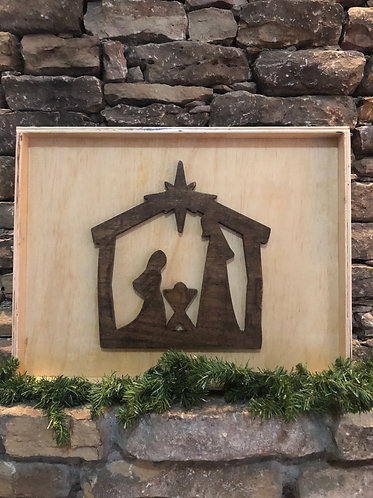 Shadow Box Nativity Scene