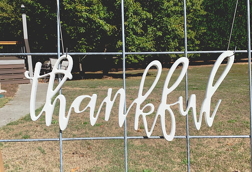 """""""thankful"""" Cutout"""