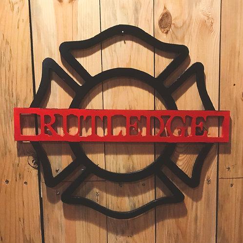 Firefighters Emblem Door Hanger (w/ name insert)