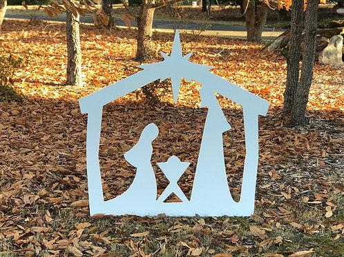 Nativity Yard Sign