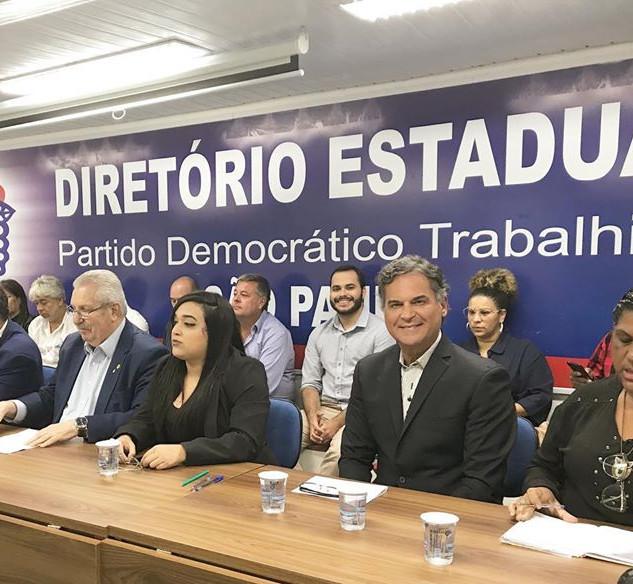 Carlos Arnaldo no diretório estadual do PDT
