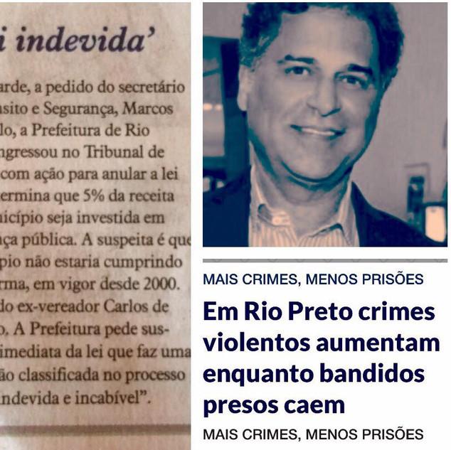 Carlos Arnaldo no jornal