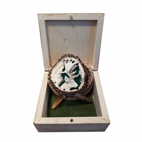 Poľovnícka kravata jeleň 2 - originál paroh