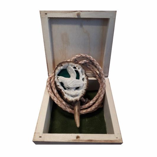 Poľovnícka kravata hluchán hôrny - originál paroh