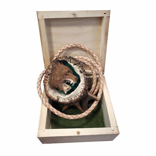 Poľovnícka kravata Medveď - originál paroh
