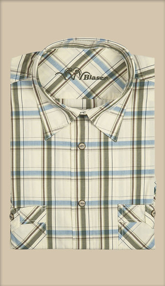 Košeľa Blaser Ferrara - popelín / krátky rukáv