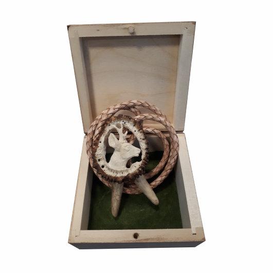 Poľovnícka kravata Srnec - originál paroh