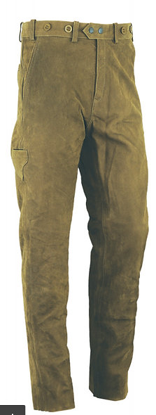 Kožené nohavice Carl Mayer Rabenau Olivgrün