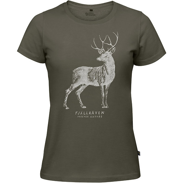 Fjällräven dámske tričko DEER PRINT W