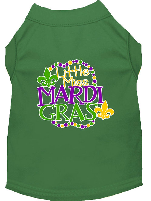 Mardi Gras T-Shirt- Little Miss Mardi Gras