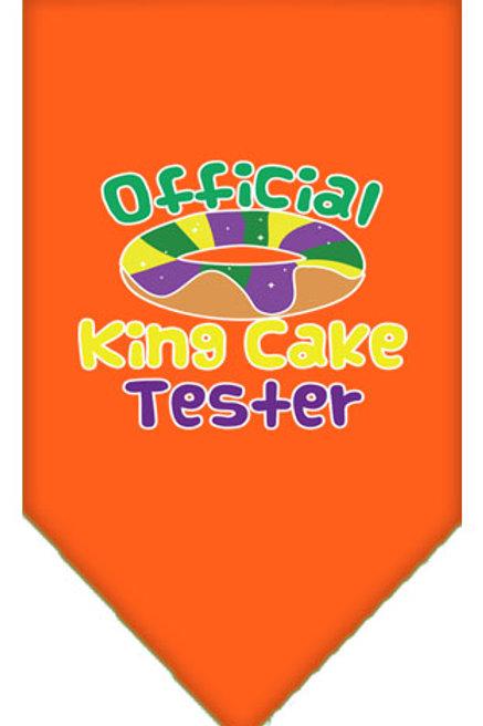 Mardi Gras Bandana- Official King Cake Tester