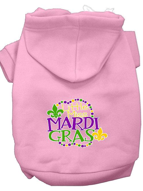 Mardi Gras Hoodie- Little Miss Mardi Gras