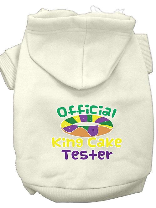 Mardi Gras Hoodie- Official King Cake Tester