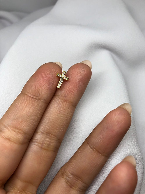 Cross Gold Piercing