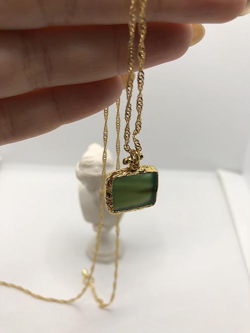 Yeşil Agat Doğal Taş