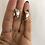 Thumbnail: Bombeli Halka Gümüş Renk