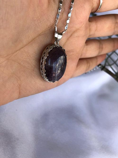 Ametist Gümüş Kaplama Kolye