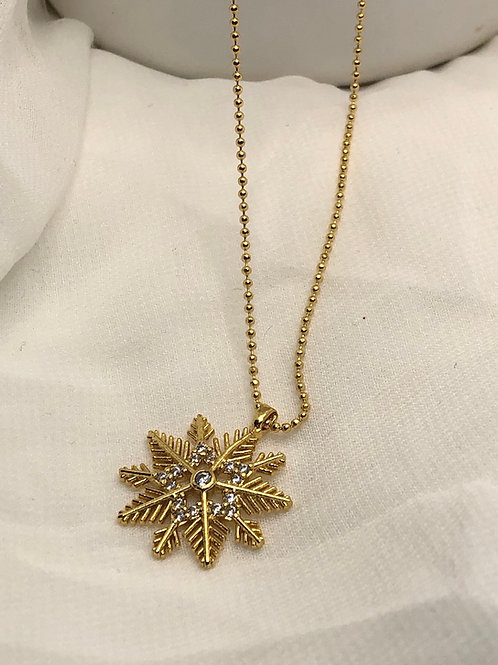 Snowflake Gold Kolye