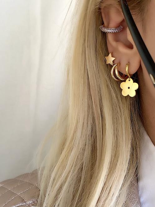Glam Çiçek Küpe