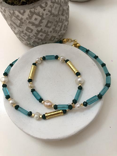 Aqua Kristal Tasarım Kolye