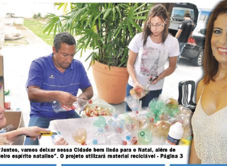 """Primeira-dama Edna Suman lança projeto """"Natal Iluminado"""" na cidade"""