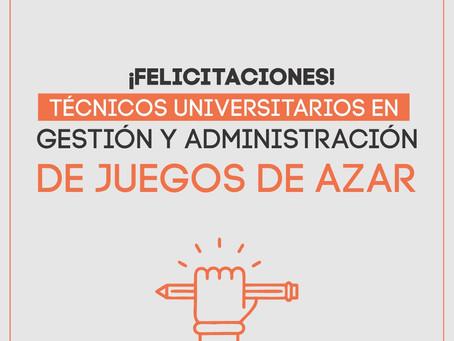 ¡Primeros Técnicos Univeritarios en Gestión y Administración de Juegos de Azar!