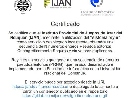 Los sorteos del IJAN con certificación de la UNCo
