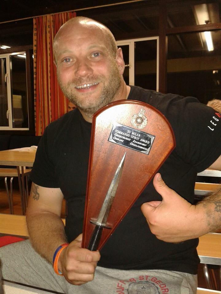 Paul Henson with his Commando Spirit Award