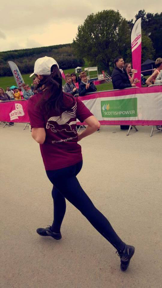 Sarah repping Pegasus Military Fitness at Delamere Forest Race For Life