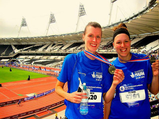 Hall Of Fame: Jess & Olivia Pugh, National Lottery Anniversary Run