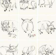 Copy of Cow Diagram II 臨摹相牛圖系列貳