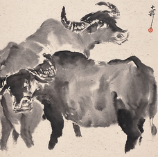 Double Oxen 双牛图