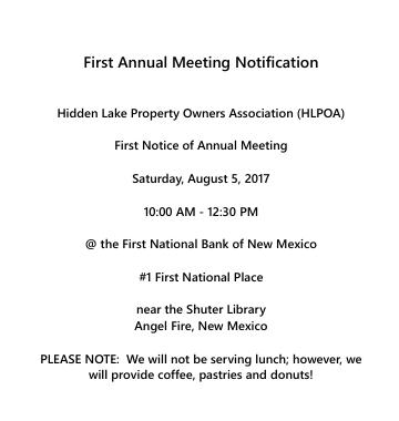 Meeting notice sent out 6/12 on behalf of John Adamick