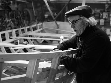Master Boat Builder Jerome Canning in his Workshop
