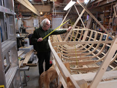 Black Island Punt Commission - Jerome Canning in his Workshop