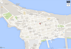 Map Old San Juan Puerto Rico
