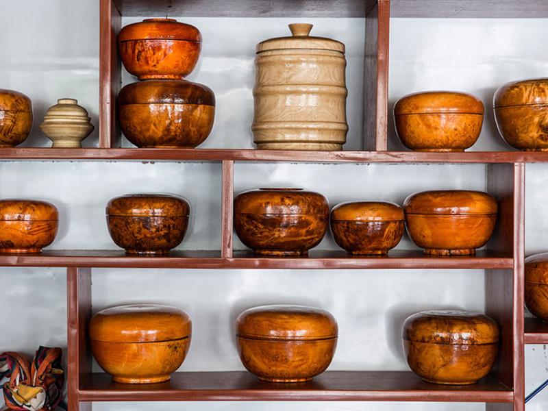 Tibetan wooden bowls