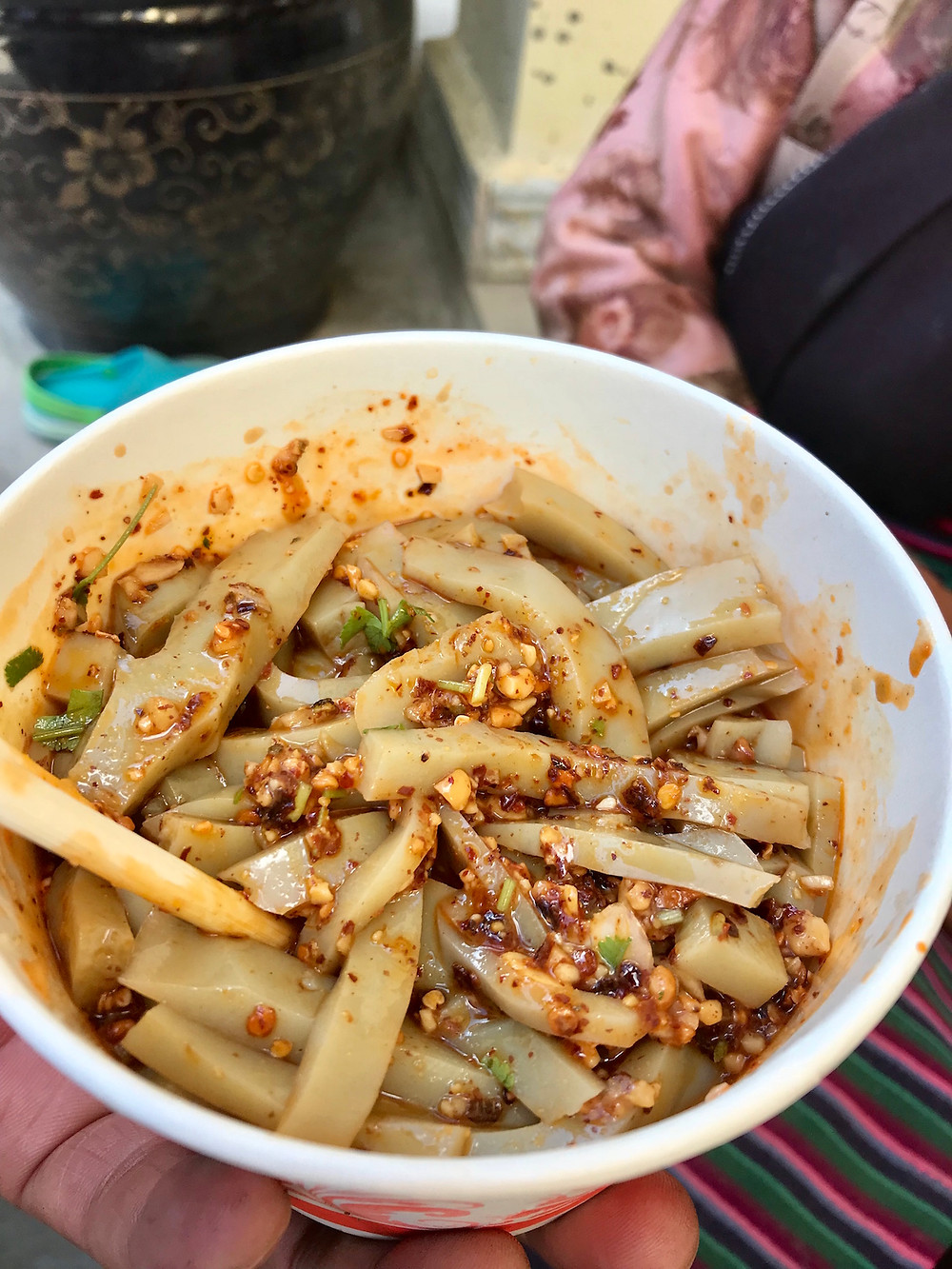 cold laphing mung bean noodle