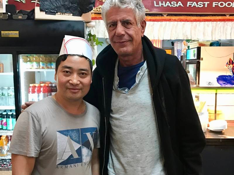 Anthony Bourdain at Lhasa Fast Food