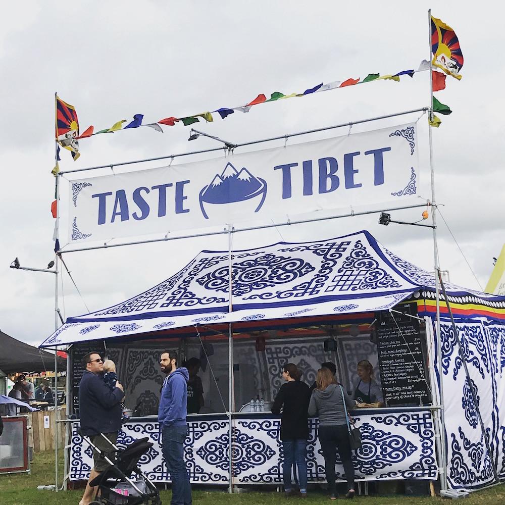 Taste Tibet tent in action