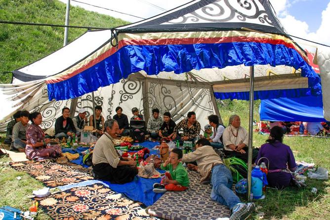 Picnicking in Tibet