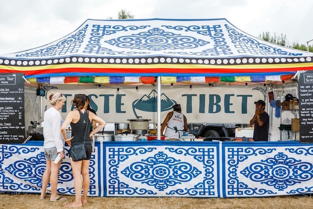 Taste Tibet tent